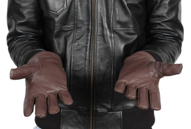 brown leather dress gloves men