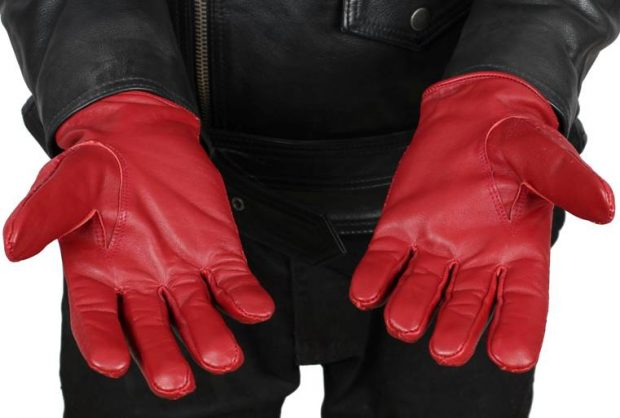 maroon leather gloves burgndy