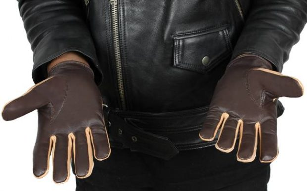 mens brown and beige Han solo Gloves