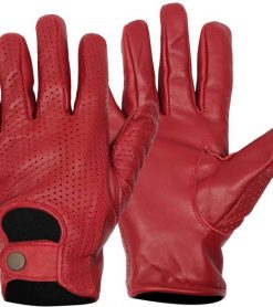 real leather maroon red burgundy gloves