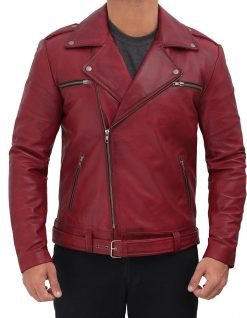 real leather motorcycle jacket men