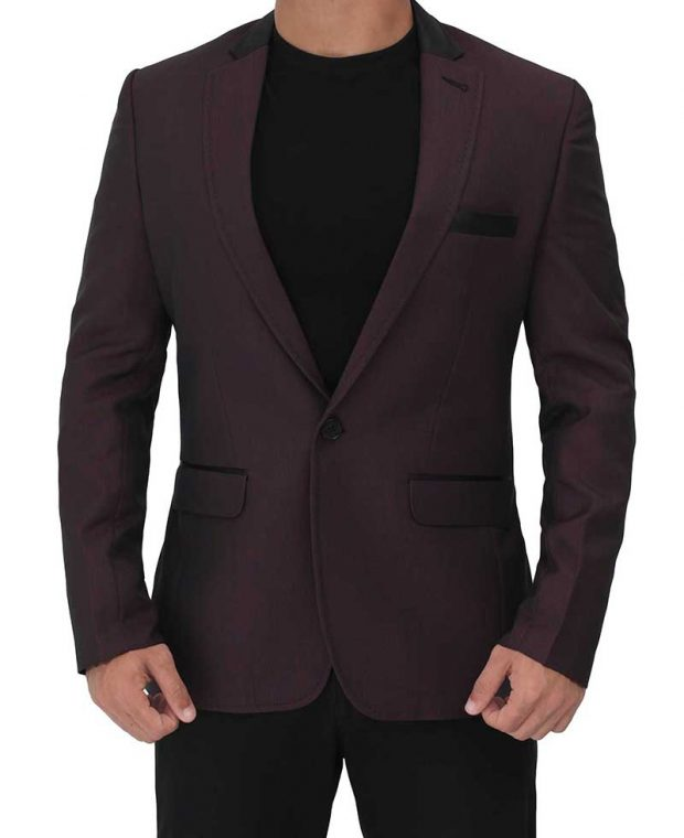 maroon blazer for men