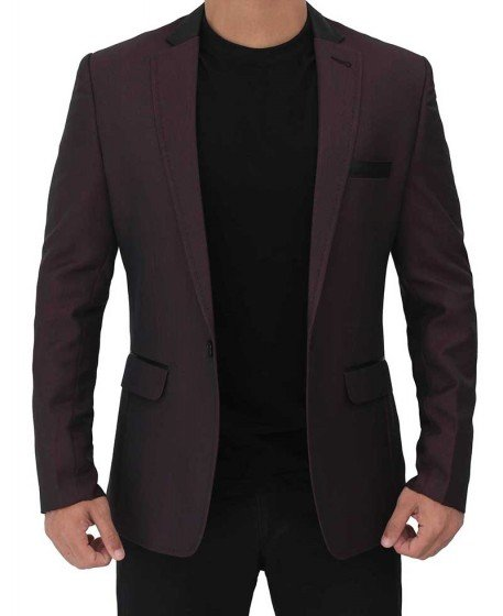 maroon sports coat blazer