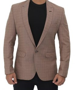 mens lightbrown suit jacket sports coat