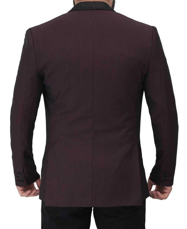 mens maroon sports jacket coat