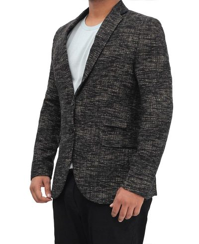 mens suit jacket coat textured black
