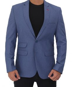 mens textured suit jacket