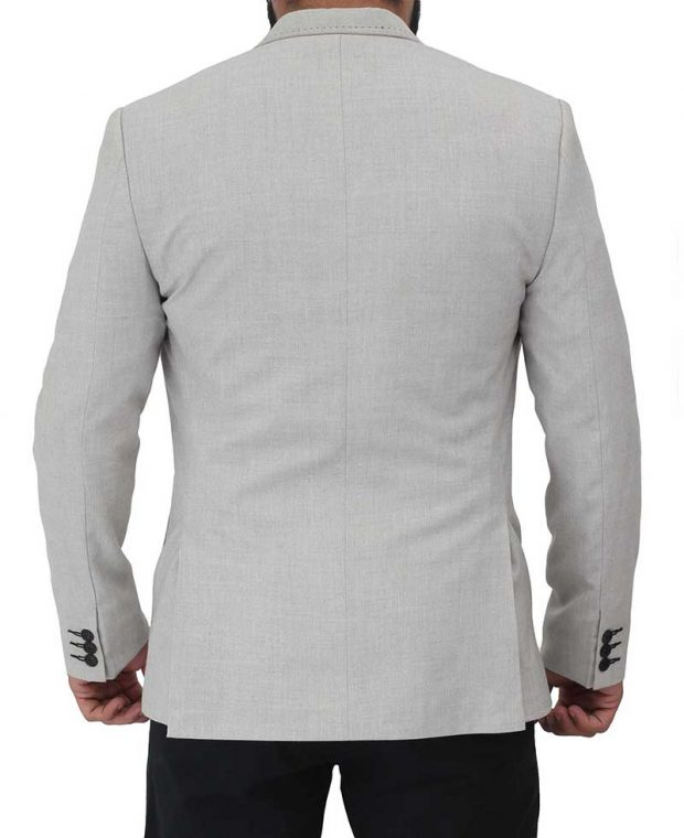 mens white grey blazer coat