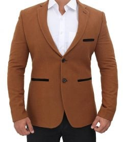 mens wool blazer brown coat