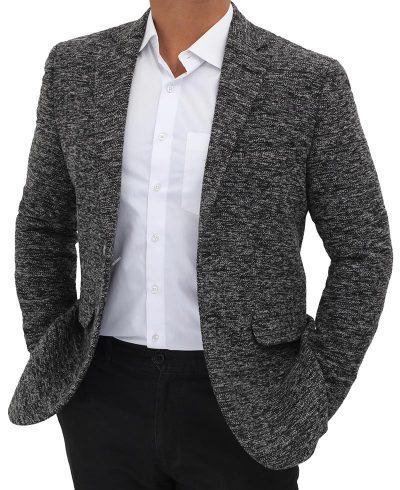 textured wool coat blazer