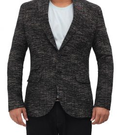 wool black blazer for men