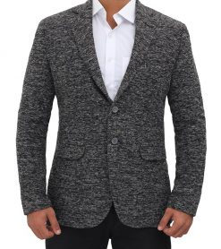 wool blazer for men grey