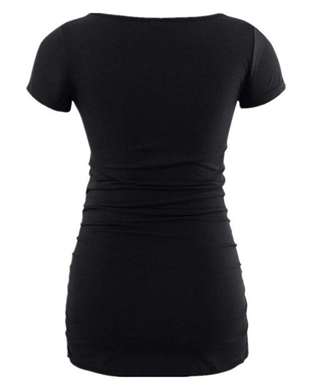 Black maternity shirt for women