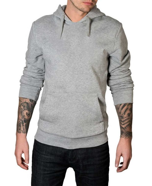 Light grey hoodie for men