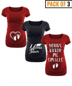 Maternity t shirt pack for women long
