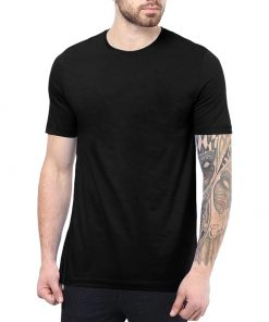 Plain Black T Shirt For Men