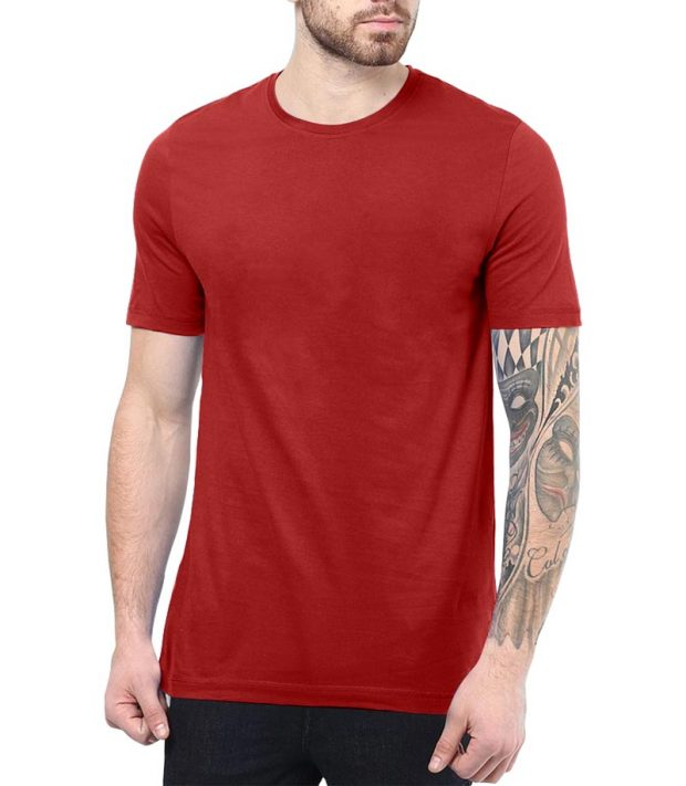 Red Plain Shirt For men