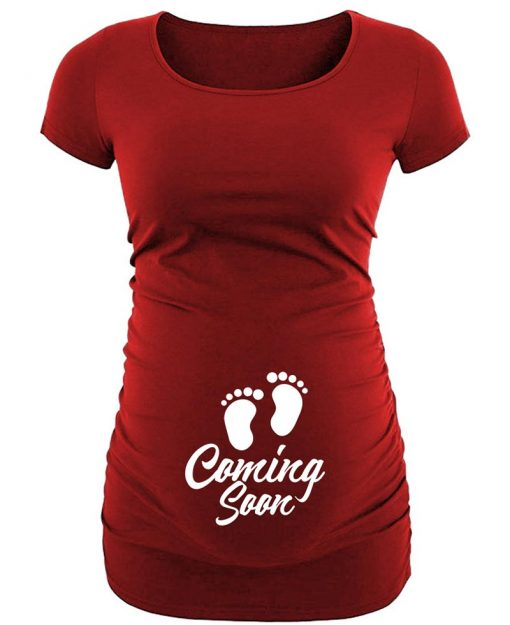 maternity caring red shirt