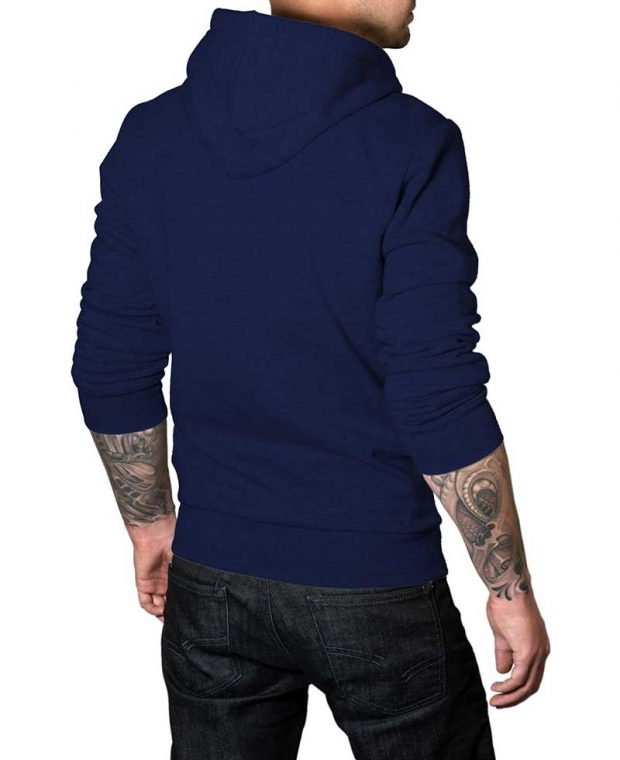 navy blue hoodie for men