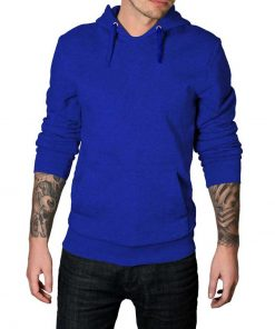 royal blue plain hoodie for men