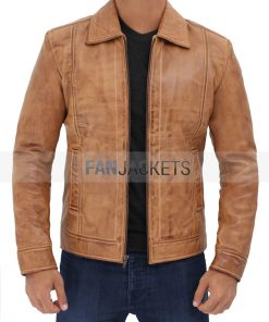 John Wick Camel Leather Jacket