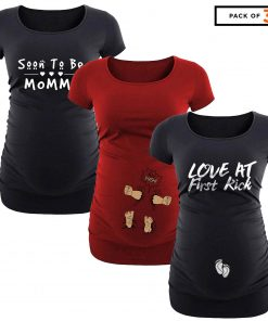 Maternity pregnancy t shirt pack of 3