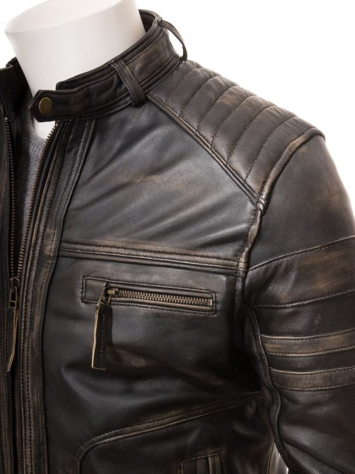 real leather vintage leather jacket