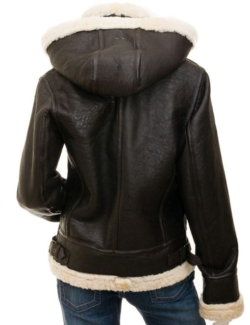 Brown Aviator bomber Jacket Women