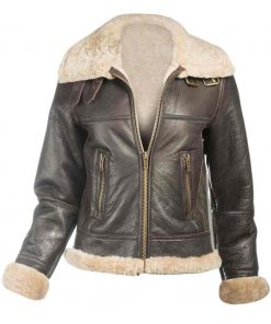 Leather Flight Jacket women