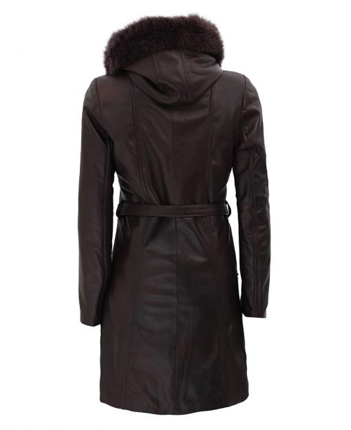 Womens Dark Brown Leather coat