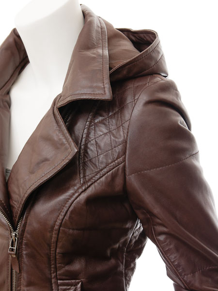 removable hooded leather jacket