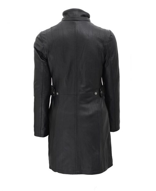 winter leather coat women with hood