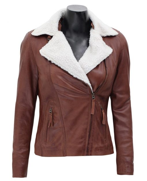 womens shearling leather jacket