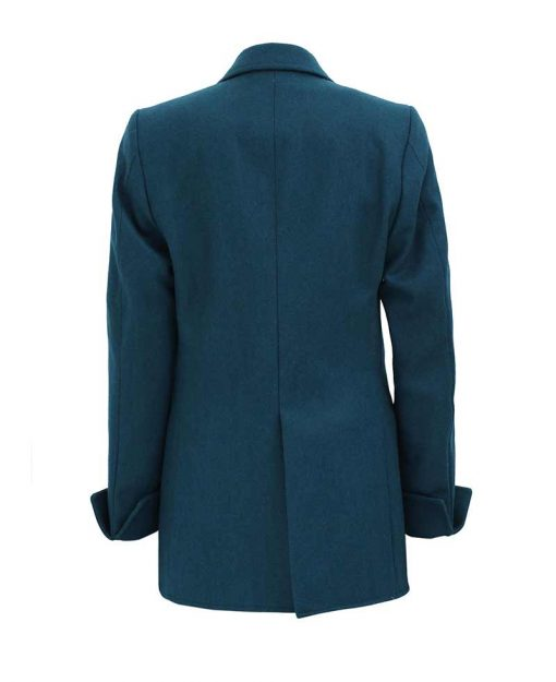 Double Breasted navy blue wool coat