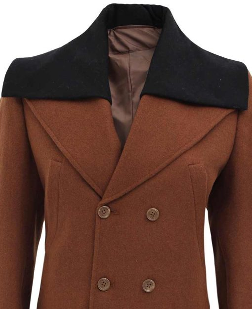 Women double breasted wool coat