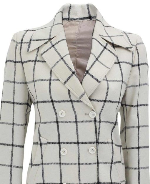 double breasted wool coat for women