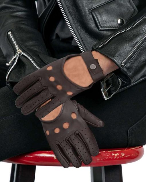 Brown Leather Driving Gloves