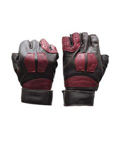 GOG black and red leather gloves Lord