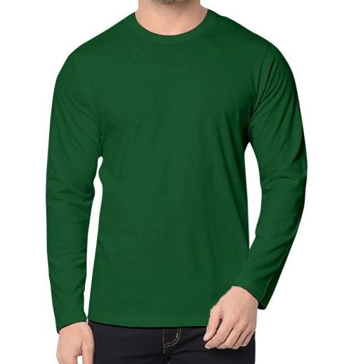Green Long Sleeve T Shirt Mens