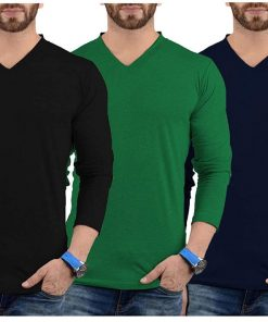 Mens V Neck Plain T Shirts Pack