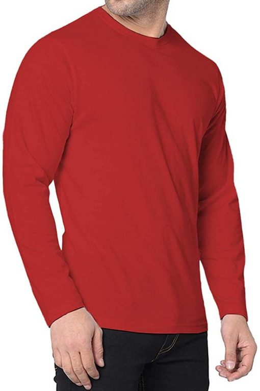 Mens full sleeves red jersey