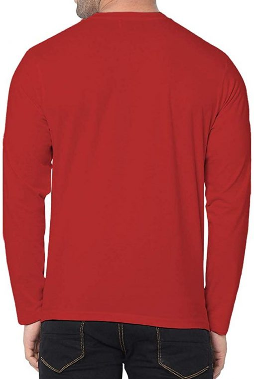Mens plain red cotton shirt