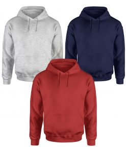 Plain red blue and gray hoodie for men