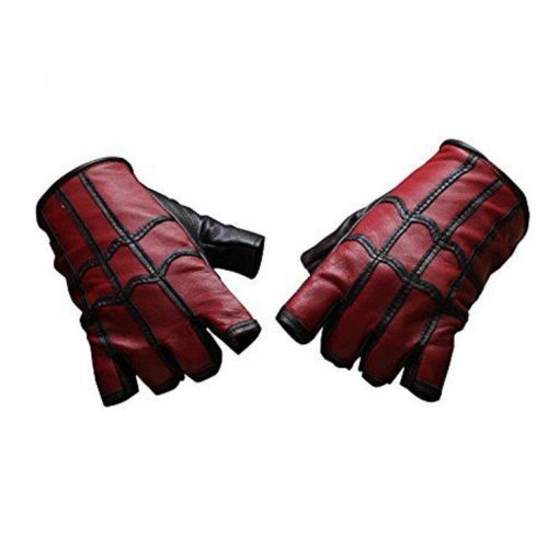 Spiderman Real leather black and red Gloves