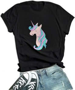Unicorn Graphics Shirt for Women
