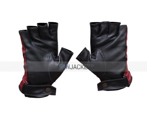 black and red leather gloves men