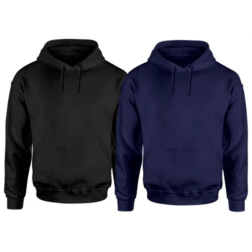 mens black and navy blue pullover hoodies
