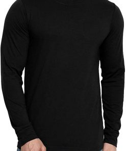 mens black cotton t shirt round neck