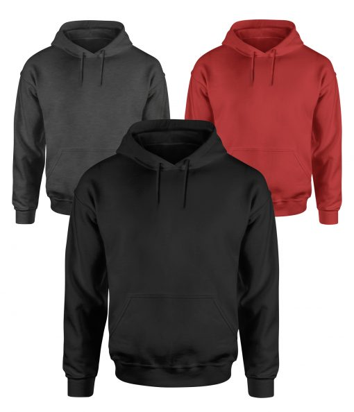 mens black red and gray hoodies