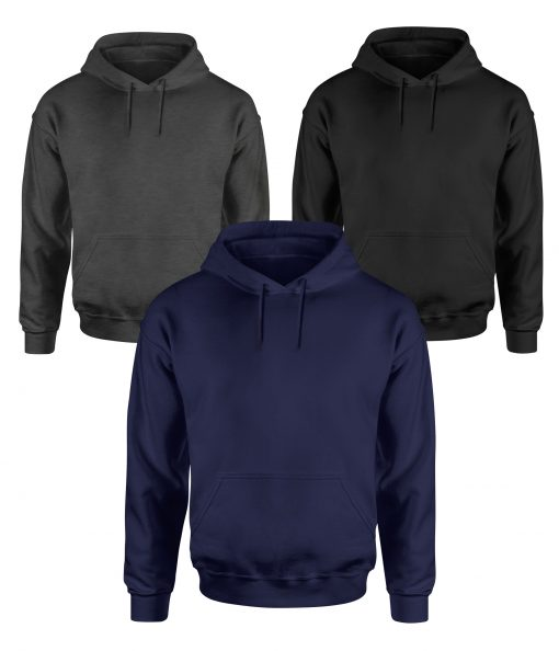 mens grey and navy blue pullover hoodies